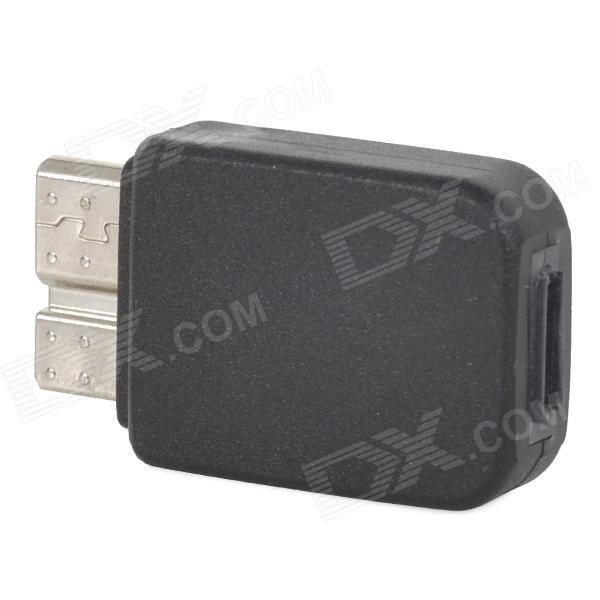 Convenient Micro USB 5 Pin Female to Micro USB V 3.0 9 Pin Male Adapter - Black
