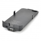 3200mAh External Power Battery Charger w/ Back Case / Woven USB Cable for Iphone 5 / 5s - Black