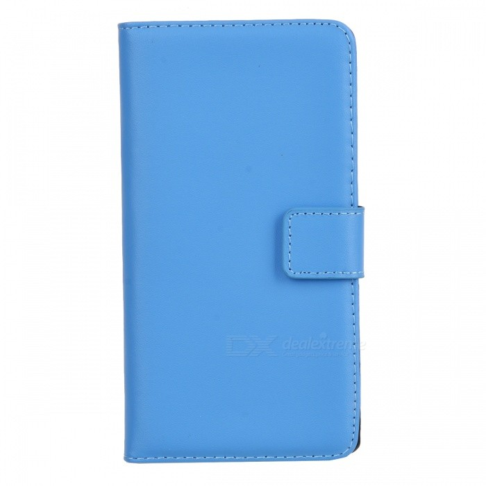 Durable Flip-open Sheep Skin Case w/ Holder + Card Slot + Magnetic Button for Sony Xperia Z1 L39H