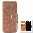 Silk Style Protective PU Leather Case for Iphone 5 / 5s - Champagne
