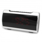 "SANSUI A46 3.0"" LED 2-CH Bass Media Player Speaker w/ FM / Music Alarm Clock / TF - Silver + Black"