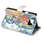 Stylish Patterned Flip-open PU Leather Case w/ Holder + Card Slot for Samsung Galaxy S2 i9100