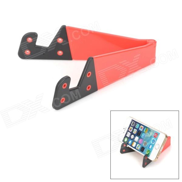 Convenient Folding Portable Multifunctional Phone Holder - Red