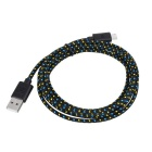 Universal USB to Micro 5-Pin Charging Data Cable - Black (2m)