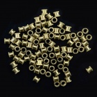 M3 x 4 x 4 Brass Flower Screw Nut / Die Cast Screw Nut / Mosaic Screw Nut - Brass (100 PCS)