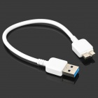 USB Male to USB 3.0 Micro B Type Male Charging & Data Sync Cable for Samsung Note 3 - White (23cm)