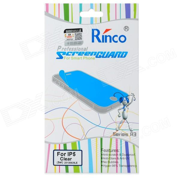 RINCO Protective PET Clear Front + Back Guard Film Protector for Iphone 5