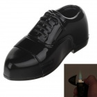 Lovely Shape Leather Shoes Refillable Lighter - Black