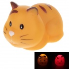 Creative Animal Series Cat Style LED Toys Small Night Lamp - Yellowish Brown (3 x AG10)