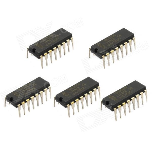 Jtron IC Integrated Circuit / 74HC595N DIP-16 - Black (5 PCS)