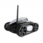 Brilink BST01 Iphone / Ipad / Android Device Controlled 4-CH 2.4G Wireless Spy Tank - Black + White