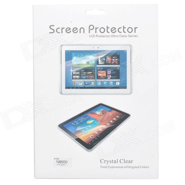 Matte Screen Protector for Samsung Galaxy Note 10.1'' N8000 - Transparent (3PCS) чехол для планшета samsung flat screen protector p7500 p7510 p5100 p5110 n8000 n8010