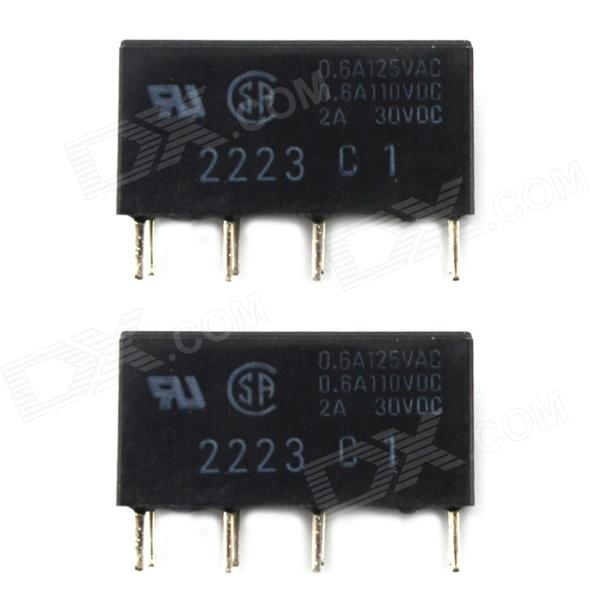 Jtron 2A 5V 8-pin Signal Relay - Black (2 PCS) jtron 4 pin power relay black 12v 30a
