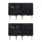 Jtron 2A 5V 8-pin Signal Relay - Black (2 PCS)