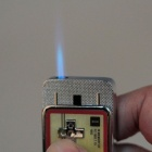 Mini Portable Game Handle Style Windproof Lighter - Silver + Red + Yellow