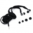 Universal Shoelace Style Fashion In-Ear Earphones w/ Microphone for Iphone 4 / 4s - Black