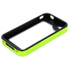 S-What Detachable Protective PC + Silicone Bumper Frame Case for Iphone 4 / 4s - Green + Black