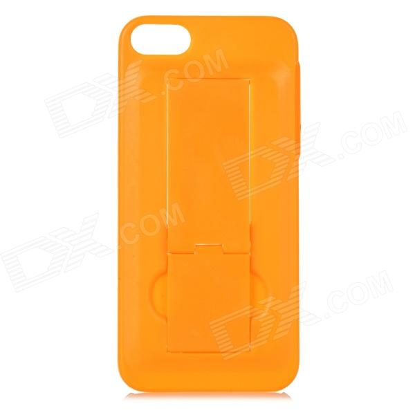 Protective Plastic Back Case w/ Stand for iPhone 5 / 5S - Orange nillkin protective matte plastic back case w screen protector for iphone 6 4 7 golden