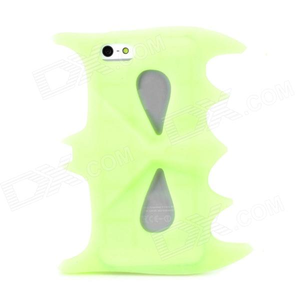 все цены на Stylish Glow-in-the-Dark Silicone Back Case for Iphone 5 / 5s - Green онлайн