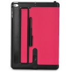 Protective PU Leather + Plastic Flip Open Case w/ Stylus / Dust Plug / Stand for Ipad AIR