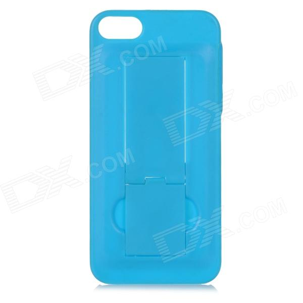 Protective Plastic Back Case w/ Stand for iPhone 5 / 5S - Blue nillkin protective matte plastic back case w screen protector for iphone 6 4 7 golden