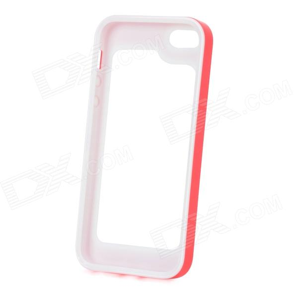 S-What Detachable Protective Silicone + PC Bumper Case for Iphone 5 / 5s - Red + White