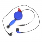 3.5mm In-ear Earphone w/ Microphone / Stretch Remote for Iphone 5 / 5s - Deep Blue (Cable-1.2m)
