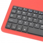 Detachable Bluetooth V3.0 Wireless 64-key Keyboard Case for Ipad AIR - Red