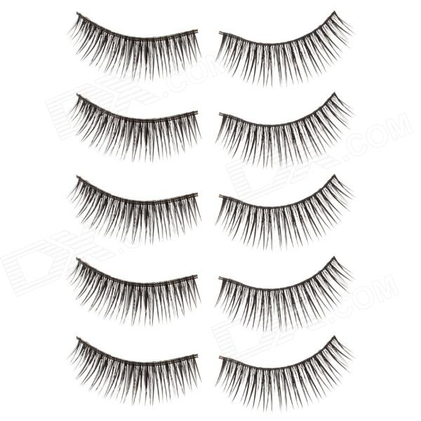 TaylorXuan Fashion Super Flirtatious False Eyelashes for Beauty Makeup - Black (5 Pair)