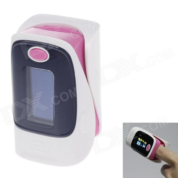 KANGRONG 1.1 OLED SPO2 Fingertip Pulse Oximeter Heart Rate Monitor - White + Pink (2 x AAA) color oled wrist fingertip pulse oximeter with software spo2 monitor