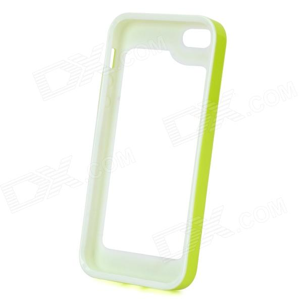 S-What Detachable Protective Silicone + PC Bumper Case for Iphone 5 / 5s - Light Green + White