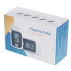 "KANGRONG 1.1"" OLED SPO2 Fingertip Pulse Oximeter Heart Rate Monitor - White + Pale Purple (2 x AAA)"