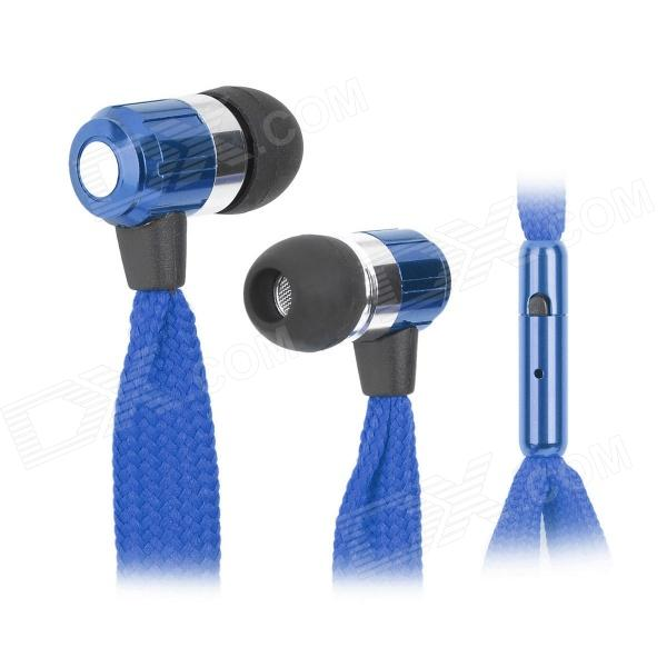 HXT-2026 Shoelace Cable Style 3.5mm In-ear Earphone w/ Microphone for Iphone4 / 4s / 5 / 5s (120cm)