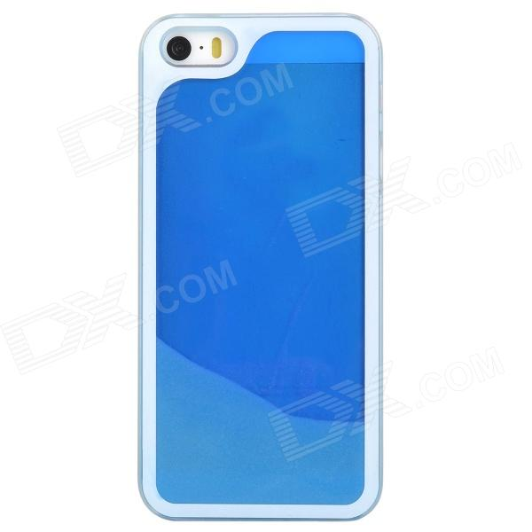 Glow-in-the-Dark Protective PC Back Case for Iphone 5 / Iphone 5S - Blue + Translucent White