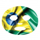 Brazil Flag Pattern Temporary Face Tattoo For Football/Soccer Sports Fans (5 PCS)