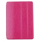 Fashion Ultra Thin Flip Open Protective PU Leather Case w/Auto Wake-up / Sleep for Ipad AIR - Rose