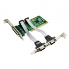IOCREST Combo 2 DB-9 Serial+ 1 DB-25 Parallel Printer (LPT1) Ports PCI Controller Card