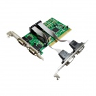 IOCREST  Moschip 9865 Chipset 4 DB-9 Serial (RS-232) Ports PCI Controller Card - Green