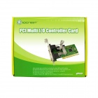 IOCREST Moschip 9865 Chipset PCI Controller Card - Green