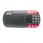 SAST CDA-901 Digital Media Player Speaker w/ FM / TF - Red + Black