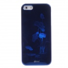 ipai HD3088 Fashion 3D Lotus Protect Case for Iphone 5 - Deep Blue