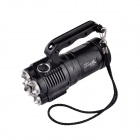 UltraFire Portable UF-T90 4-LED 2-Mode 2000lm Flashlight w/ Strap - Black (4 x 18650)