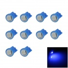 T10 / W5W 0.2W 20lm SMD 5050 LED Blue Car Clearance lamp / Side / Instrument Light - (12V / 10 PCS)