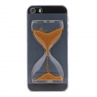 BEST Creative Sand Timer Style Plastic Protective Case for Iphone 5S - Transparent + Golden