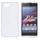"Anti-Slip ""S"" Style Protective TPU Back Case for Sony Xperia Z1 Mini / Xperia Z1S - White"