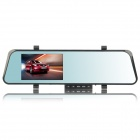 "DV170 4.3"" TFT LCD 1.3 MP Rearview Mirror Car DVR Camcorder w/ 0.3 MP External Camera - Black"