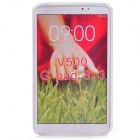 """X"" Style Protective TPU Back Case for LG G Pad 8.3 V500 - Transparent White"
