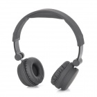 YH-228 Stylish Stereo Headset Headphones with Microphone for PC / Cell Phone - Black