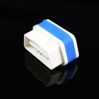 Super Mini iCar2 Vehicle Wi-Fi OBD-II Code Diagnostic Tool / Clearer - White + Blue