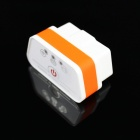 Super Mini iCar2 Vehicle Wi-Fi OBD-II Code Diagnostic Tool / Clearer - White + Orange